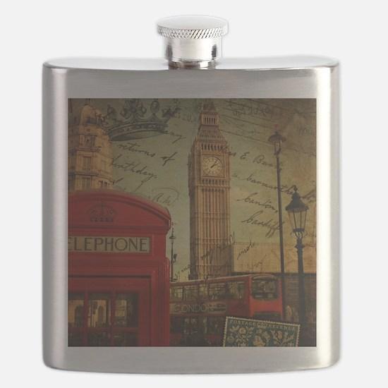 vintage London UK fashion  Flask