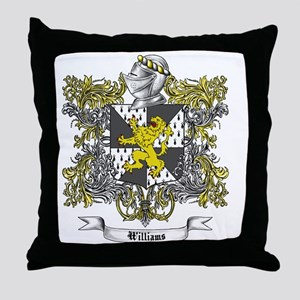 Williams Family Crest 2 Throw Pillow