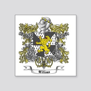 "Williams Family Crest 2 Square Sticker 3"" x 3"""