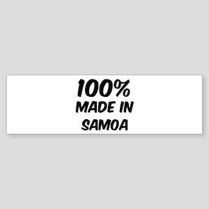 100 Percent Samoa Bumper Sticker