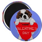 Valentine Saint Bernard Magnet
