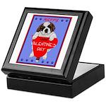 Valentine Saint Bernard Keepsake Box