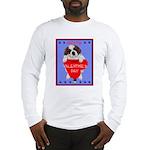 Valentine Saint Bernard Long Sleeve T-Shirt