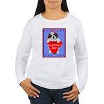 Valentine Saint Bernard Women's Long Sleeve T-Shir