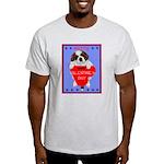 Valentine Saint Bernard Ash Grey T-Shirt