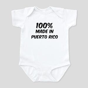 100 Percent Puerto Rico Infant Bodysuit