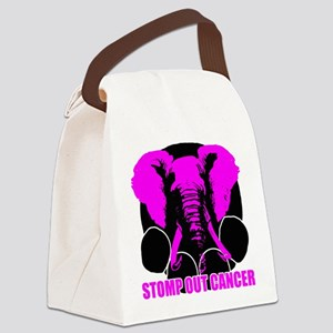Stomp out cancer Canvas Lunch Bag