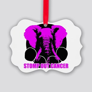 Stomp out cancer Picture Ornament