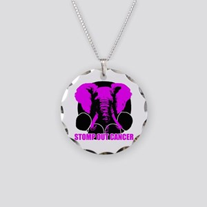 Stomp out cancer Necklace Circle Charm