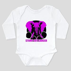 Stomp out cancer Long Sleeve Infant Bodysuit