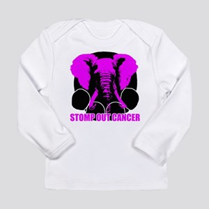 Stomp out cancer Long Sleeve Infant T-Shirt