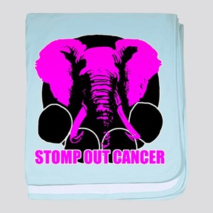 Stomp out cancer baby blanket