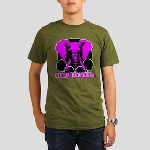 Stomp out cancer Organic Men's T-Shirt (dark)