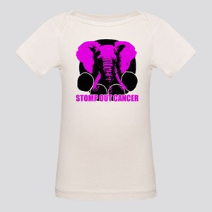 Stomp out cancer Organic Baby T-Shirt