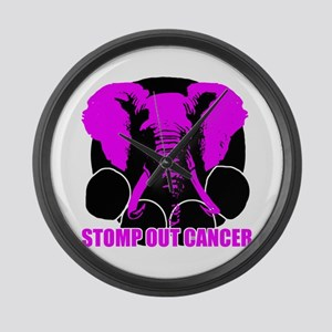 Stomp out cancer Large Wall Clock