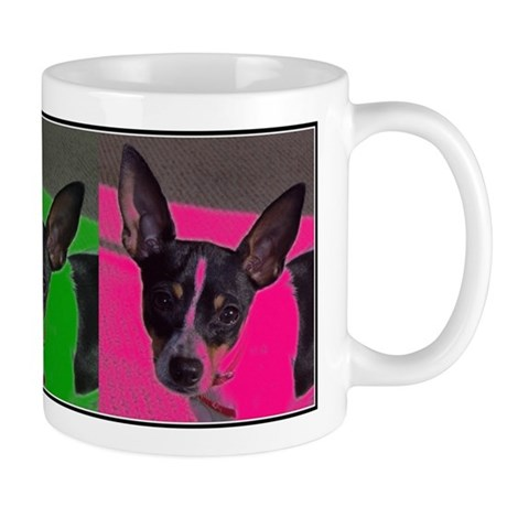 POP ART RAT TERRIER Mug