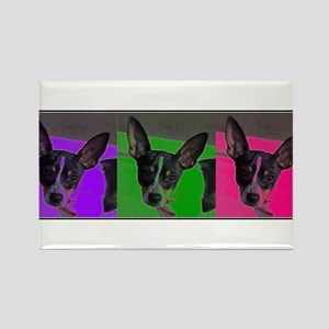 POP ART RAT TERRIER Rectangle Magnet