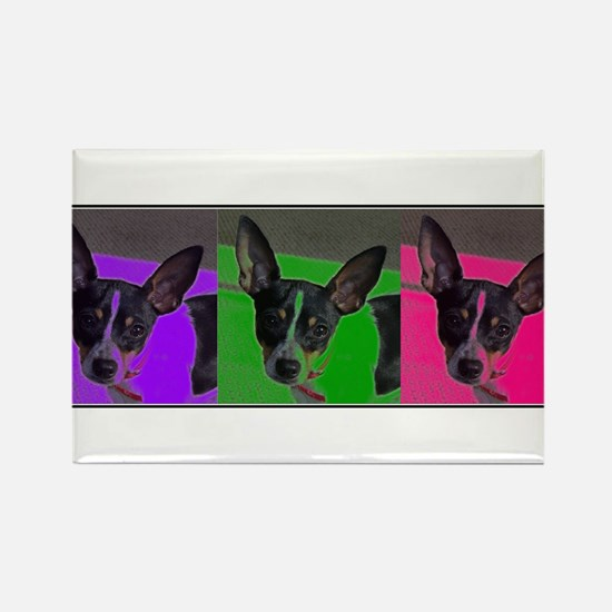 POP ART RAT TERRIER Rectangle Magnet