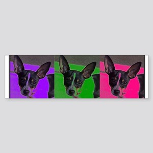 POP ART RAT TERRIER Bumper Sticker