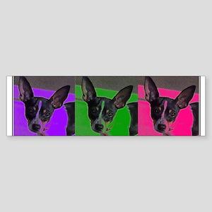 POP ART RAT TERRIER Bumper Sticker