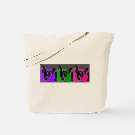 POP ART RAT TERRIER Tote Bag