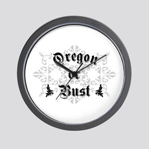 Oregon or Bust Wall Clock