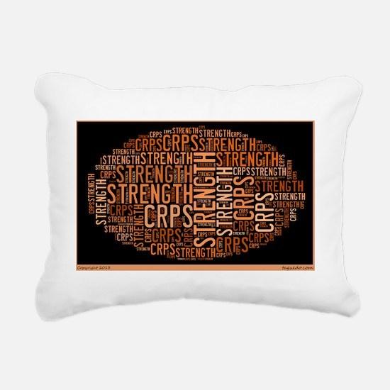 CRPS STRENGTH, BLACK AND Rectangular Canvas Pillow