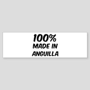 100 Percent Anguilla Bumper Sticker