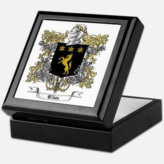 Wilson Family Crest 5 Keepsake Box