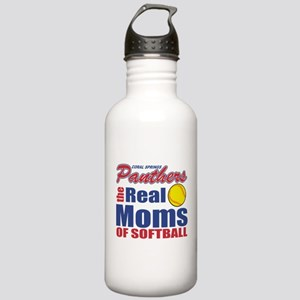 The real moms of softball Water Bottle