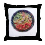 Robins with Berries Throw Pillow