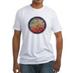 Robins with Berries Fitted T-Shirt