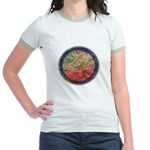 Robins with Berries Jr. Ringer T-Shirt