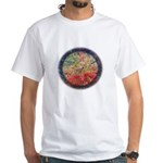 Robins with Berries White T-Shirt