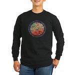 Robins with Berries Long Sleeve Dark T-Shirt
