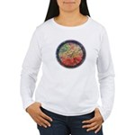 Robins with Berries Women's Long Sleeve T-Shirt