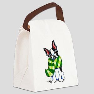 Boston Plaid Scarf Canvas Lunch Bag