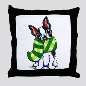 Boston Plaid Scarf Throw Pillow