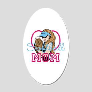 Softball Mom 20x12 Oval Wall Decal