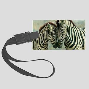 Zebras Large Luggage Tag