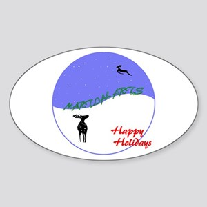 Martial Arts Holiday Oval Sticker