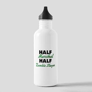 Half Marshal Half Zombie Slayer Water Bottle