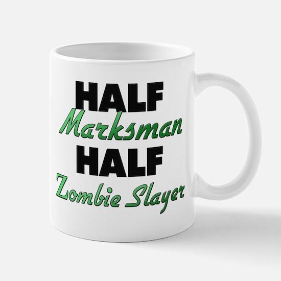 Half Marksman Half Zombie Slayer Mugs
