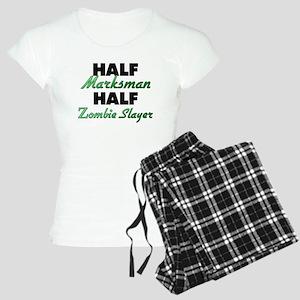 Half Marksman Half Zombie Slayer Pajamas