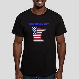 Custom Minnesota American Flag T-Shirt