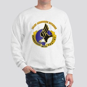 DUI - 101st Airborne Division with Text Sweatshirt