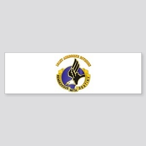 DUI - 101st Airborne Division with Text Sticker (B