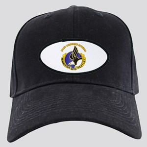 DUI - 101st Airborne Division with Text Black Cap