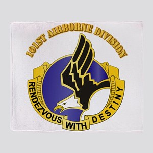 DUI - 101st Airborne Division with Text Throw Blan