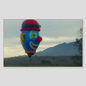 hot air clown Sticker (Rectangle)